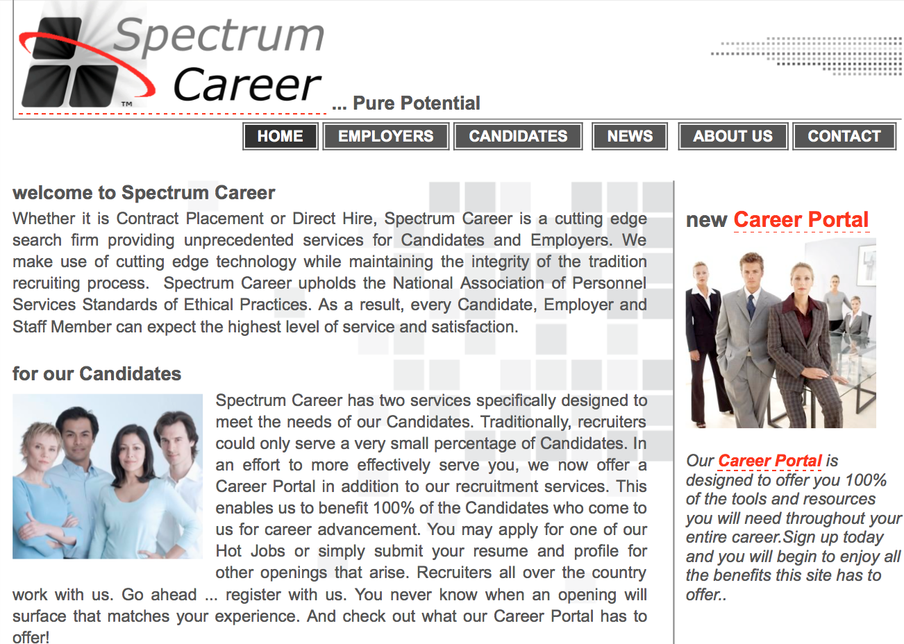 Spectrum Career Contract and Direct Placement